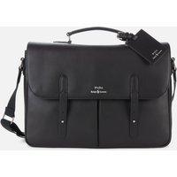 Polo Ralph Lauren Mens Leather Messenger Bag - Black