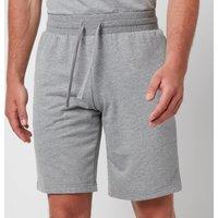 Emporio Armani Men's All Over Logo Terry Bermuda Shorts - Grey Melange - M