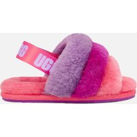 UGG Toddlers' Fluff Yeah Slide Slippers - Pink / Purple Rainbow - UK 5 Toddlers