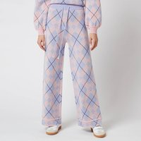 Olivia Rubin Women's Isobel Knitted Wide Leg Check Trousers - Check Mix - M