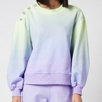 Olivia Rubin Women's Nettie Sweater with Crystal Buttons - Lilac Green Ombre - S