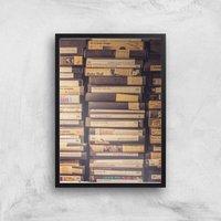 90s Video Tape Giclee Art Print - A3 - Black Frame