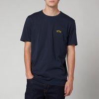 BOSS Athleisure Men's Curved T-Shirt - Medium Blue - L