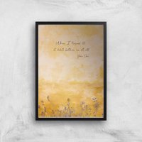 60th Birthday Yoko Ono Giclee Art Print - A4 - Black Frame