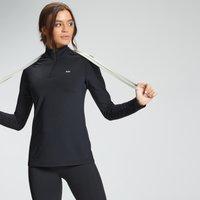 Image of Myprotein MP Women's Essentials Training Regular Fit 1/4 Zip - Black - XXS