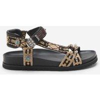 Ash Women's Ugo Ethnic Ribbon Sandals - Black - UK 7