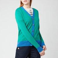 Kate Spade New York Womens Colourblock V-Neck Cardigan - Beryl Green - M