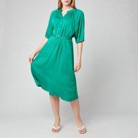 Kate Spade New York Womens Fluid Jacquard Midi Dress - Beryl Green - S