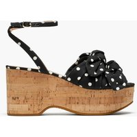 Kate Spade New York Women's Julep Wedged Sandals - Black/French Cream - UK 6