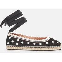 Kate Spade New York Women's Knottingham Knitted Espadrilles - Black/Optic White - UK 5