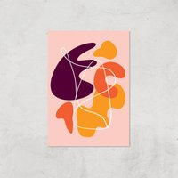 Autumn Shapes Two Giclee Art Print - A3 - Print Only