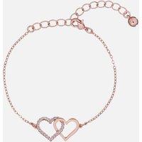 Ted Baker Women's Larsae: Crystal Linked Hearts Bracelet - Rose Gold/Crystal