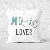 Music Lover Square Cushion - 50x50cm - Soft Touch