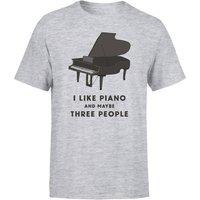 I Like Piano And Maybe Three People Men's T-Shirt - Grey - L - Grey