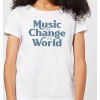 Music Can Change The World Women's T-Shirt - White - XL - White