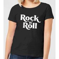 Rock N Roll Women's T-Shirt - Black - L - Black