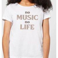No Music No Life Women's T-Shirt - White - M - White