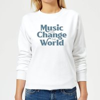 Music Can Change The World Women's Sweatshirt - White - XL - White