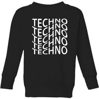 Techno Kids' Sweatshirt - Black - 7-8 Years - Black