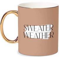 Sweater Weather Bone China Gold Handle Mug