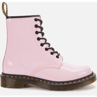 Dr. Martens Womens 1460 Patent Lamper 8-Eye Boots - Pale Pink - UK 5