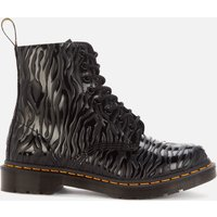 Dr. Martens Women's 1460 Embossed Leather Pascal Boots - Black Zebra - UK 5