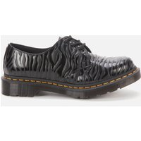 Dr. Martens Women's 1461 Embossed Leather 3-Eye Shoes - Black Zebra - UK 7
