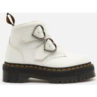 Dr. Martens Women's Devon Heart Leather Ankle Boots - White - UK 5