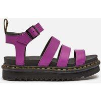 Dr. Martens Women's Blaire Leather Strappy Sandals - Bright Purple - UK 3