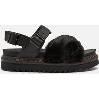 Dr. Martens Women's Voss Ii Fluffy Sandals - Black - UK 5