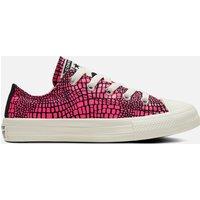 Converse Kids' Chuck Taylor All Star Digital Wordmark Ox Trainers - Hyper Pink - UK 2 Kids