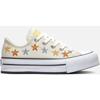 Converse Kids' Chuck Taylor All Star Digital Ox Floral Trainers - Natural Ivory/Egret - UK 2 Kids