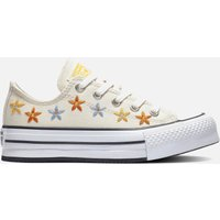 Converse Kids' Chuck Taylor All Star Digital Ox Floral Trainers - Natural Ivory/Egret - UK 2.5 Kids