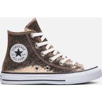 Converse Kids' Chuck Taylor All Star Hi - Top Trainers - Gold/ White - UK 10 Kids