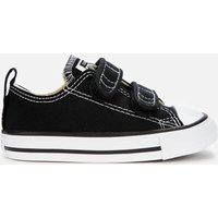 Converse Toddlers' Chuck Taylor All Star Ox Velcro Trainers - Black - UK 4 Baby