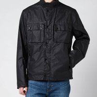 Barbour International Mens Challenge Wax Jacket - Black - L