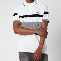 Barbour International Mens Clax Stripe Polo Shirt - White - L