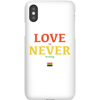 Love Is Never Wrong Phone Case for iPhone and Android - Samsung S8 - Snap Case - Matte