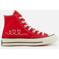 Converse Chuck 70 Love Thread Hi-Top Trainers - University Red - UK 3