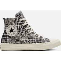 Converse Women's Chuck Taylor All Star Croc Print Hi-Top Trainers - Egret/Black - UK 3