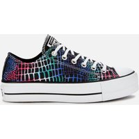 Converse Women's Chuck Taylor All Star Digital Daze Lift Ox Trainers - Black/Hyper Pink/White - UK 4