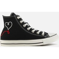 Converse Chuck Taylor All Star Love Thread Hi-Top Trainers - Black - UK 3
