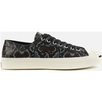 Converse Men's Jack Purcell Archive Reptile Ox Trainers - Black/Egret - UK 8