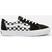 Vans Men's Canvas/Suede Sk8-Low Trainers - Black/Checkerboard - UK 11