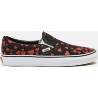 Vans Women's Valentines Hearts Classic Slip-On Trainers - Black/Pink/Red - UK 6