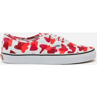 Vans Women's Valentines Hearts Classic Authentic Trainers - White/Pink/Red - UK 3