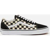Vans Old Skool Trainers - Black/Swhite Checkerboard - UK 7