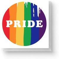 Pride Badge Square Greetings Card (14.8cm x 14.8cm)