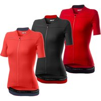 Castelli Anima 3 Jersey - L - Red/Black