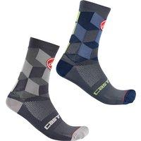 Castelli Unlimited 15 Socks - L/XL - Dark Grey